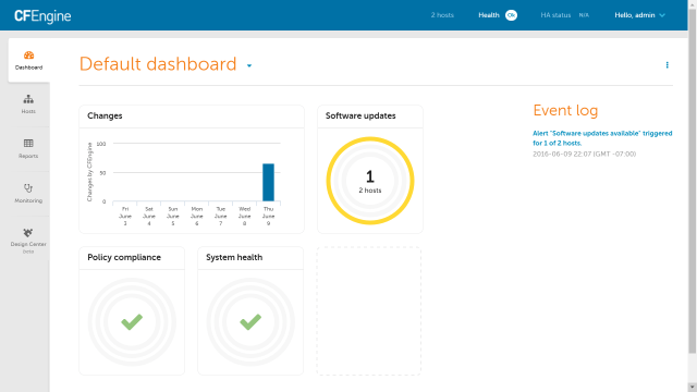CFEngine Enterprise Dashboard