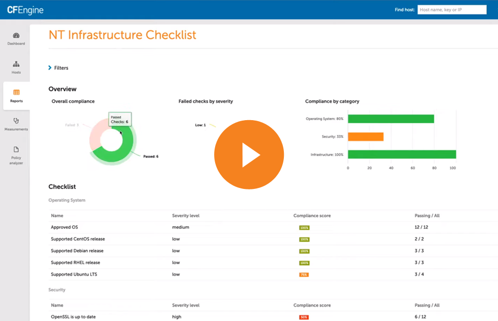 Video preview showing Compliance Reports in the Mission Portal UI.